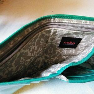 Hobo International Bags - Hobo International Teal Leather Wallet Clutch